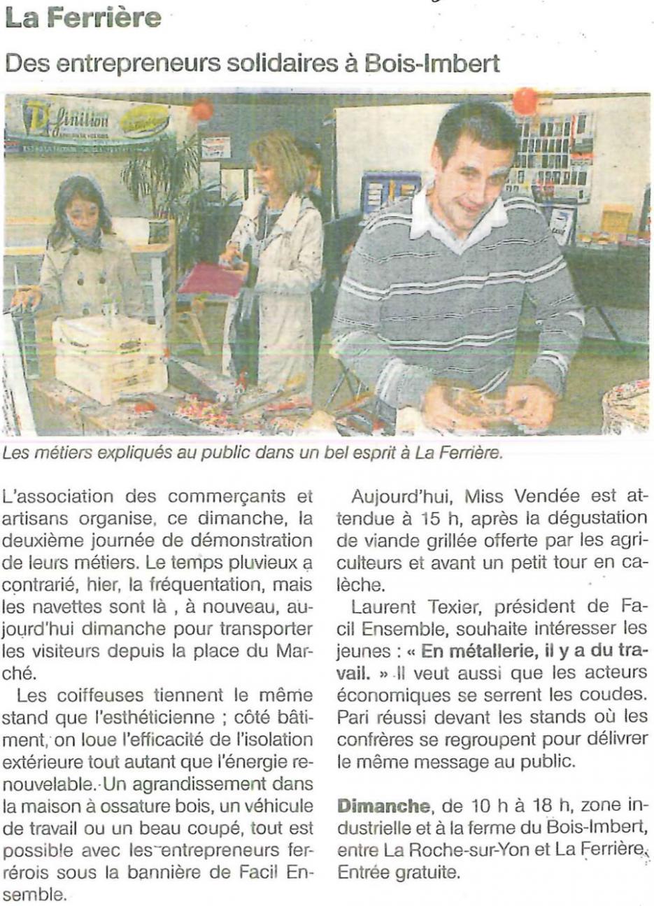 Des entrepreneurs solidaires à Bois-Imbert