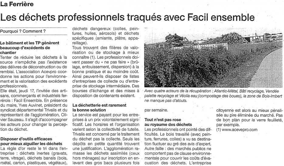 Les déchets professionnels traqués avec FACIL'Ensemble