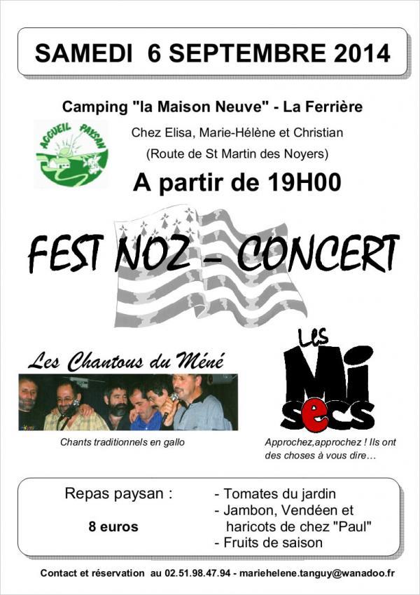 Concert Fest-Noz au camping de la Maison Neuve 1