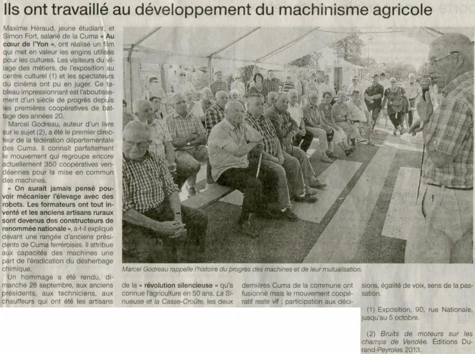 Ils ont travaillé au développement du machinisme agricole