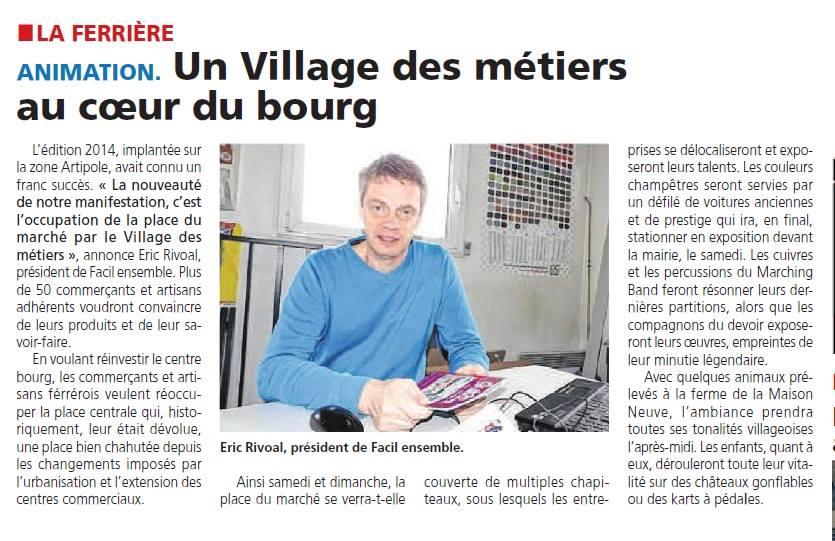 Un village des métiers au cœur du bourg